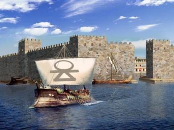 Ricostruzione delle fortificazioni dell'ingresso del cothon di Mozia di Aldo Ferruggia